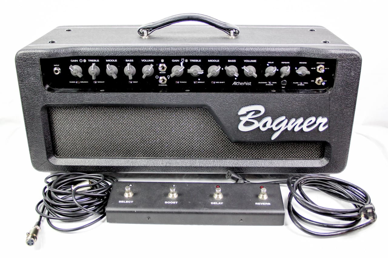 bogner alchemist guitar amplifier head with foot switch reverb. Black Bedroom Furniture Sets. Home Design Ideas