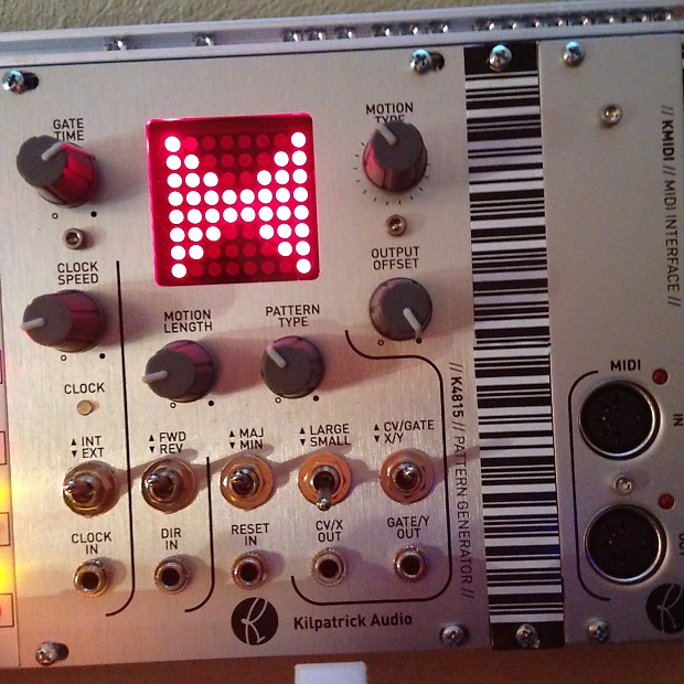 Kilpatrick Audio Pattern Generator K4815 plus KMIDI midi interface breakout  module