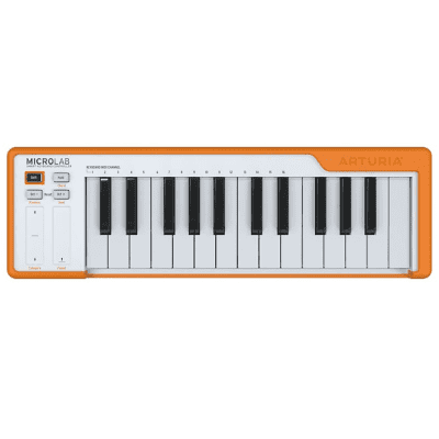 Arturia MicroLab Compact 25-Key USB Midi Controller, Orange
