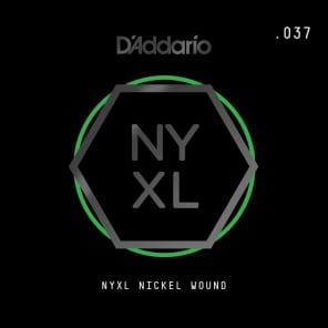 D'Addario NYXL Nickel Wound Electric Guitar Single String .037
