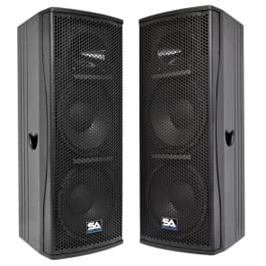 "Seismic Audio Magma-212-PAIR Passive 2x12"" Full-Range 2-Way 600w Speakers (Pair)"