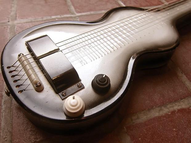 vintage rickenbacker lap steel guitar metal ns model 59 reverb. Black Bedroom Furniture Sets. Home Design Ideas