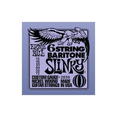 Ernie Ball 2839 Baritone Slinky Electric Strings 13-72