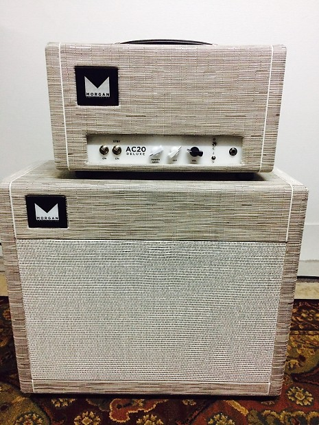 Morgan Ac20 Deluxe Head And 1x12 Cab 2011 Chalk With White Reverb