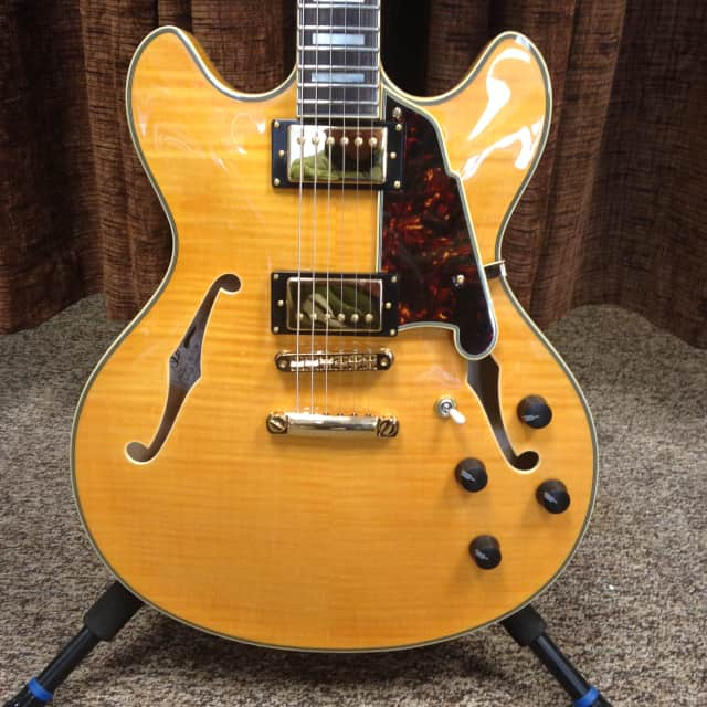 D'Angelico Excel Series DC Natural Tint EX-DC w/Stopbar Tailpiece Mint w/Original Hardshell Case image