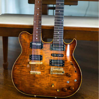 Rarest Gustavsson ever!  Doubleneck shred machine! ALL Proceeds to Jason Becker for sale