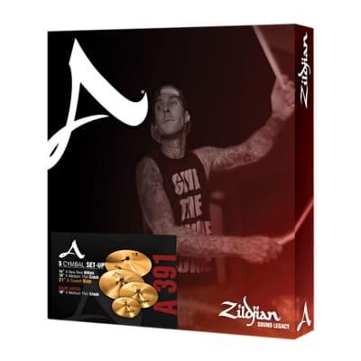 "Zildjian A391 A Series Sweet Ride Box Set 14/16/18/21"" Cymbal Pack"