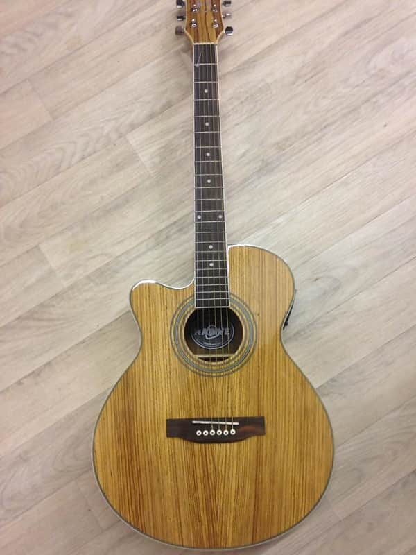 CHORD N5Z-LH Native Zebrano electro-acoustic guitar left-hand NEW