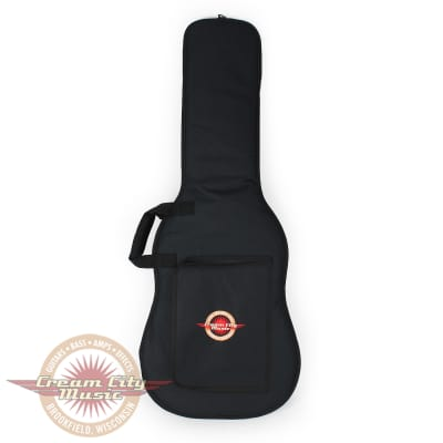 Levy's EM7P Electric Guitar Gigbag Black Poly with Embroidered Cream City Music Logo for sale