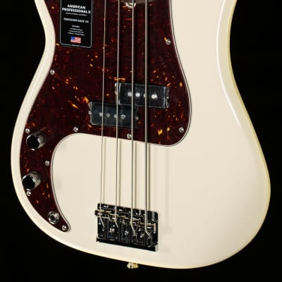 Fender American Professional II Precision Bass Olympic White Left-Hand - US210008115-8.74 lbs