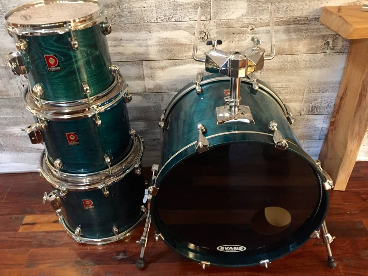 premier xpk birch eucalyptus shell drums blue green lacquer reverb. Black Bedroom Furniture Sets. Home Design Ideas