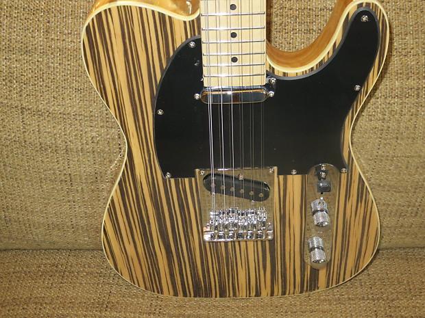custom made cozart 12 string electric tele guitar zebrano top reverb. Black Bedroom Furniture Sets. Home Design Ideas
