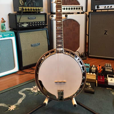 2007 Gold Star GF-85 Mahogany Resonator Flathead 5-String Banjo for sale