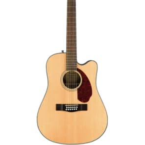Fender CD-140SCE 12 String Natural Solid Top Acoustic-Electric Guitar With Hardshell Case for sale