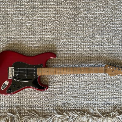 Fender American Deluxe Stratocaster - Beautiful Midnight Wine Red Transparent w/ EMG RA-5 set for sale