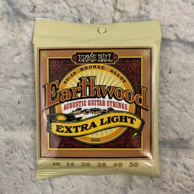 Ernie Ball Earthwood Extra Light 80/20 Bronze Acoustic Guitar Strings 10 - 50