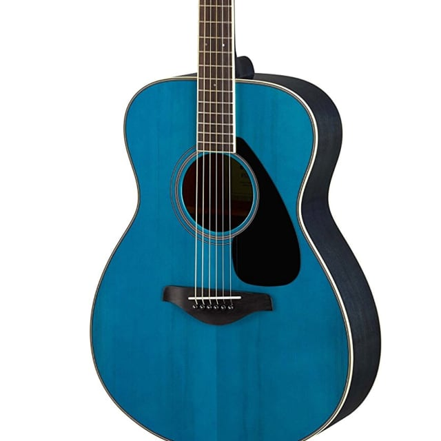 Yamaha FS820 Small Body Solid Top Acoustic Guitar, 2018 Turquoise image