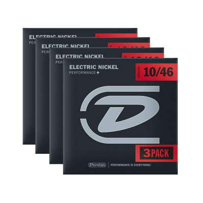 Dunlop Strings Electric Nickel Plated Steel Medium 10-46 12 Pack Bundle