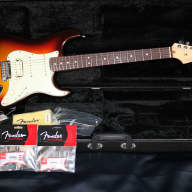 <p>Fender American Deluxe Stratocaster Plus HSS Rosewood Mystic 3-Colour Sunburst inc Fender Hard Case</p>  for sale