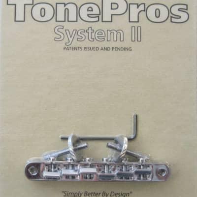 TonePros AVR2-C Chrome  Tuneomatic Bridge