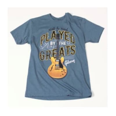 Gibson Played by the greats t-shirt (indigo) large