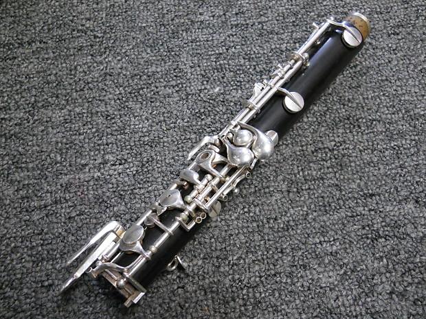 Vintage Hans Kreul Mirafone Grenadilla Wood Oboe W Case