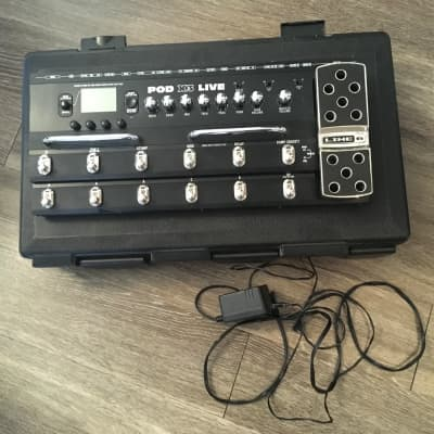 Line 6 POD X3 Live Black multi effect pedal unit and custom hard case ( holiday gift)
