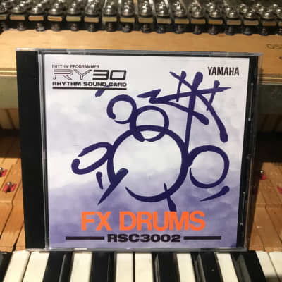 "Yamaha RSC3002 ""FX Drums"" cartridge for the RY30 - 1990's"