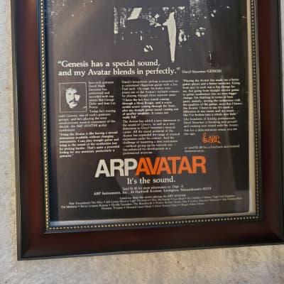 1978 ARP Instruments Color Promotional Ad Framed Arp Avatar Daryl Steurmer Genesis Original