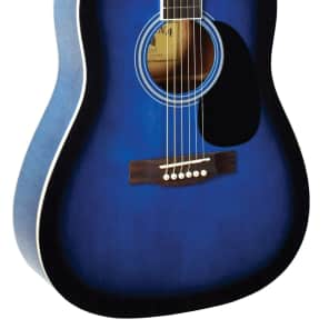Indiana S-SCOUT-BL Dreadnought Spruce Top Acoustic Guitar - Blue Burst for sale
