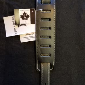 """Levy's MV17-BLK Designer Series 2.5"""" Carving Leather Strap w/ Stitching"""