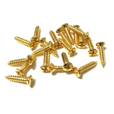 Pickguard Screws Gold Fender Size Phillips Head 20pc