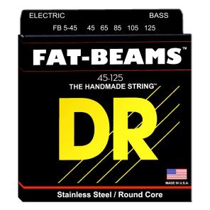DR FB5-45 Fat-Beams 5-Strings Bass Strings - Medium (45-125)