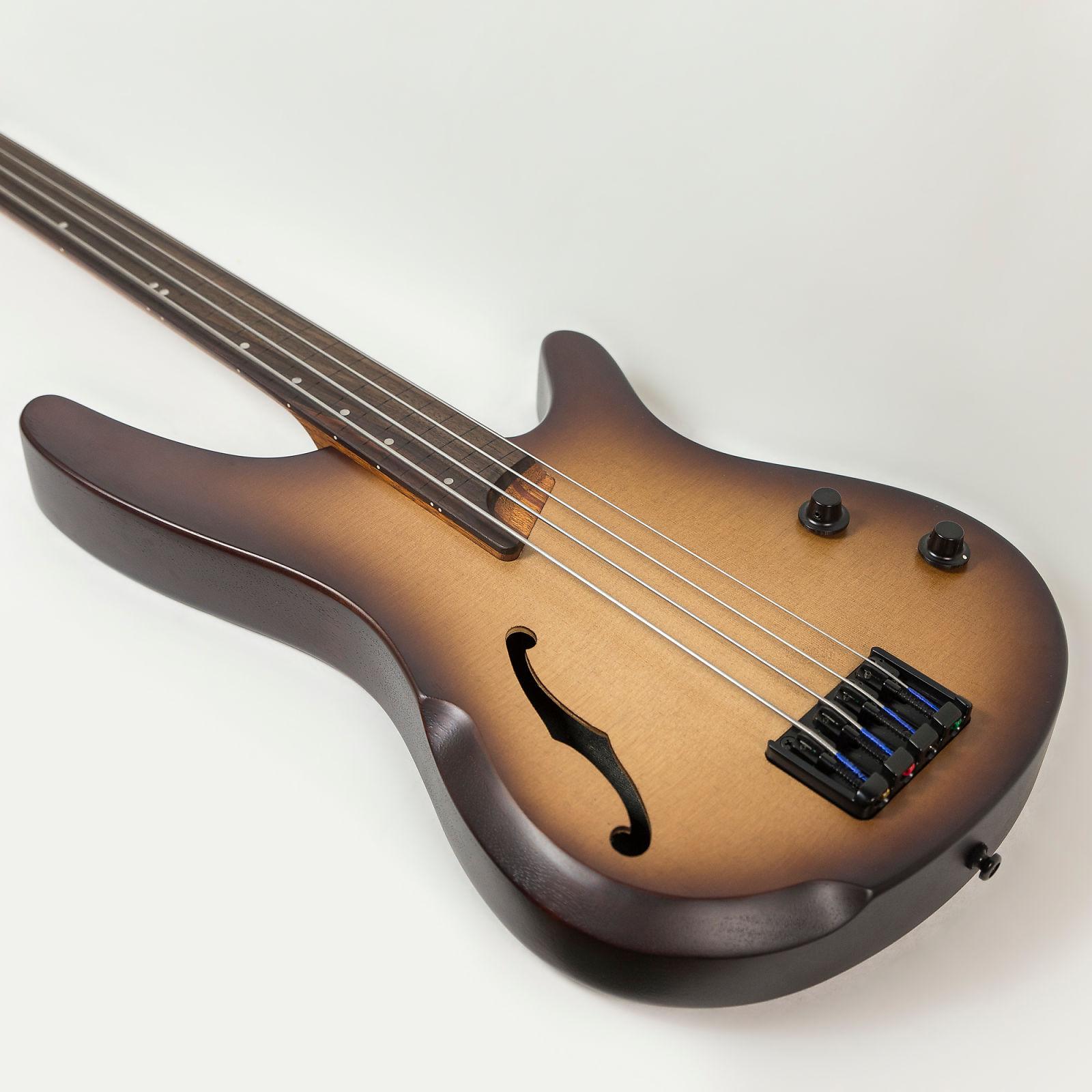 ibanez srh500f fretless 4 string semi hollow body bass guitar in natural browned burst flat. Black Bedroom Furniture Sets. Home Design Ideas