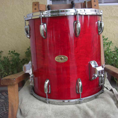 Slingerland Lite HSS Era 15x16 Tom Jasper shell Gloss Red transluscent lacquer Beautiful condition!
