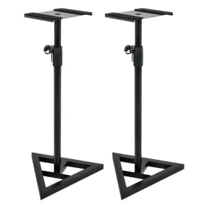 Studio Monitor Speaker Stands Height Adjustable Set of 2 Free Shipping
