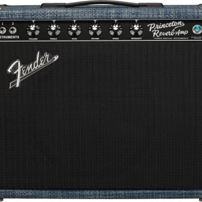 Fender 2020 Limited Edition Princeton Reverb Celestion Alnico Blue Chilewich Denim 120V