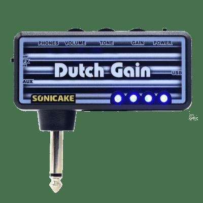 SONICAKE Guitar Headphone Amp Plug-In Dutch Gain w/h Chorus & Reverb Effects & Modern Distortion Hi-