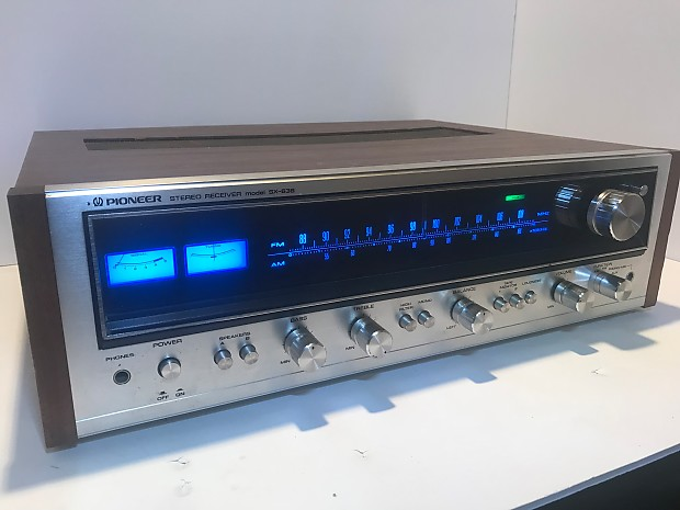 1974 Pioneer SX-636 serviced vintage silver face stereo receiver 1970's  upgraded led display