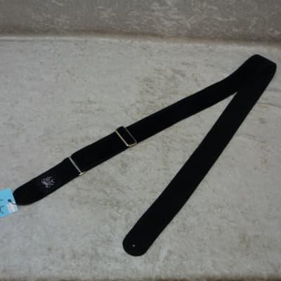 NEW! Jaykco Handmade Guitar Strap Back on Black Velvet HVBB1 16003