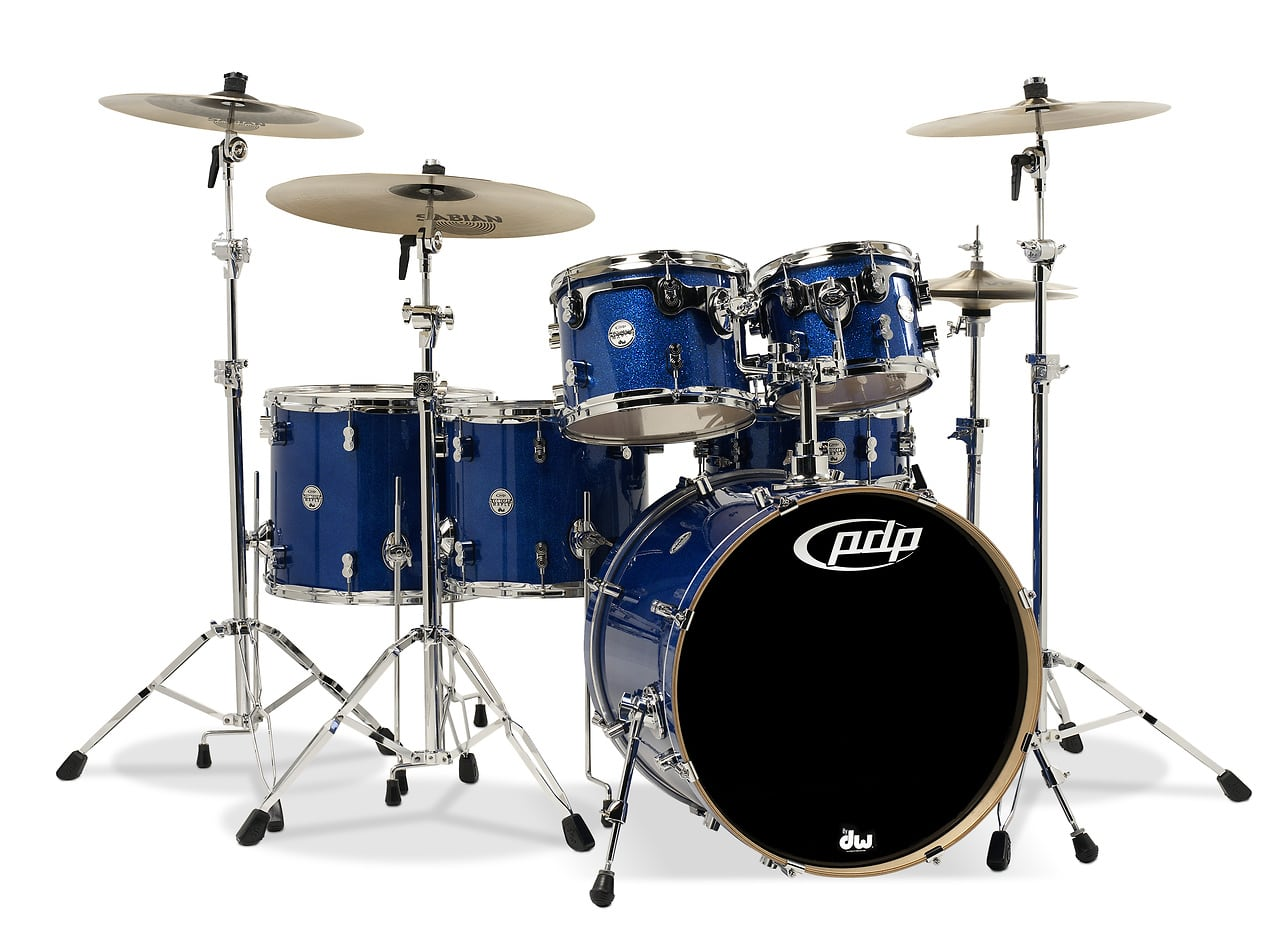 Concept maple by dw blue sparkle chrome hw 6 pcs 18x22 for 16 x 12 floor tom