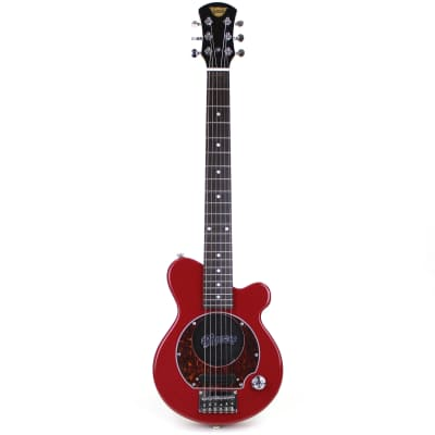 New Pignose PGG-200 Mini Electric Travel Guitar with Built-in Amp, Candy Apply Red for sale