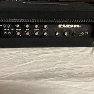 Plush P-1000 W/ Slave Multiplex 100 Watt All Tube Amplifier Head USA Vintage 1960s Black Carpeted for sale
