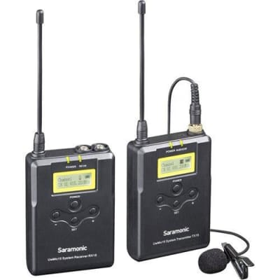 Saramonic UwMic15 UHF Wireless Microphone System, Includes TX15 Bodypack Transmitter, RX15 Camera-Mountable Receiver and Clip-On Lavalier Microphone