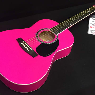 Giannini GS-36 Acoustic Guitar Pink gloss Professionally Setup! for sale