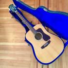 Guild G-37-e bld blonde  dreadnought acoustic guitar w case c 1980 Natural maple image