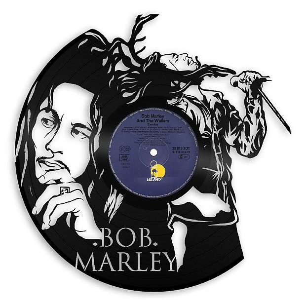 Bob Marley Vinyl Wall Art - Natural black / No Frame | Reverb