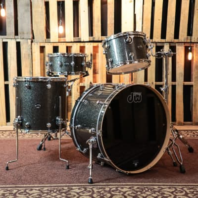 DW Performance Maple Pewter Sparkle Drum Set - 24,13,16,6.5x14