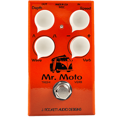 J. Rockett Audio Designs Mr. Moto Tremolo & Reverb Orange/White for sale