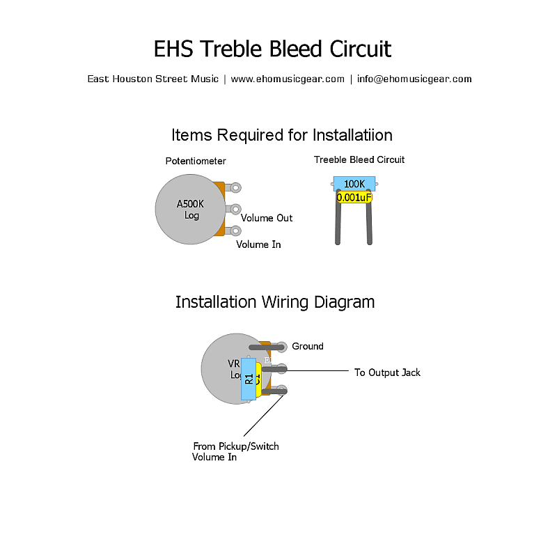 [DIAGRAM_1CA]  EHS Treble Bleed Circuit for Single Coil and Humbucker | Reverb | Treble Bleed Wiring Diagram For Humbuckers |  | Reverb